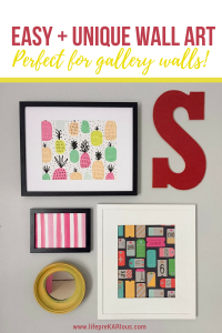 Easy DIY Wall Art for Gallery Wall
