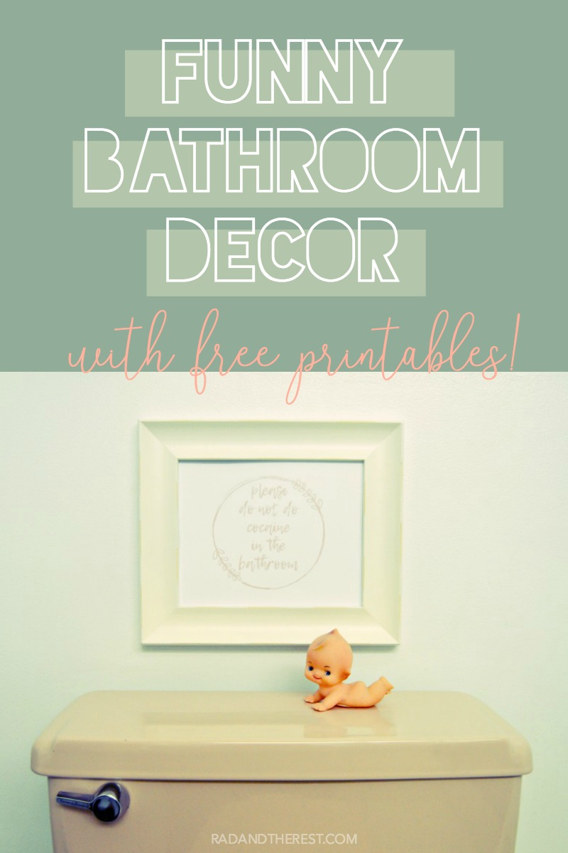 photograph regarding Free Printable Bathroom Pictures named Amusing Toilet Decor Options with Free of charge Printables - Rad + the unwind